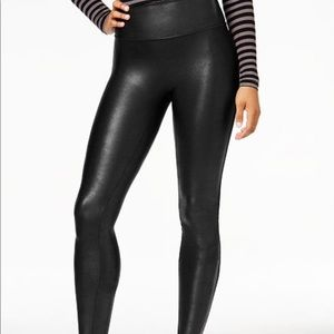 Spanx Faux Leather Tummy Control Leggings